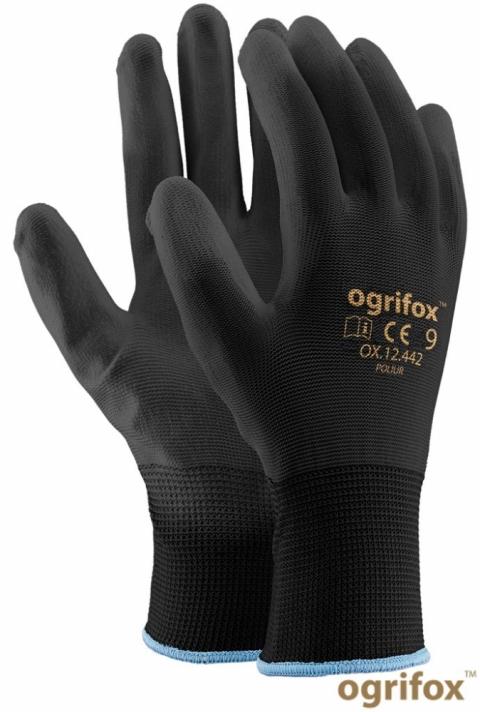 Rękawice powlekane OX- POLIUR czarne