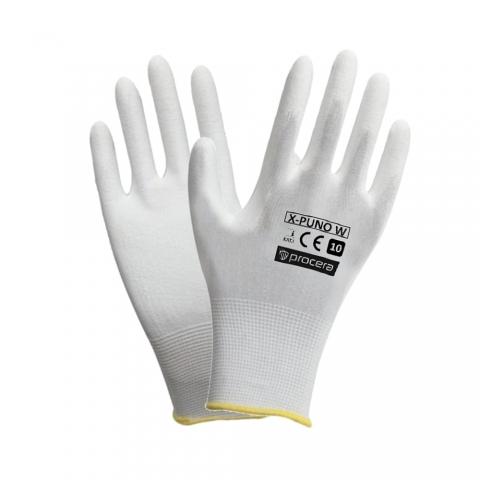 Rękawice powlekane poliuretanowe PU typu RTEPO Białe