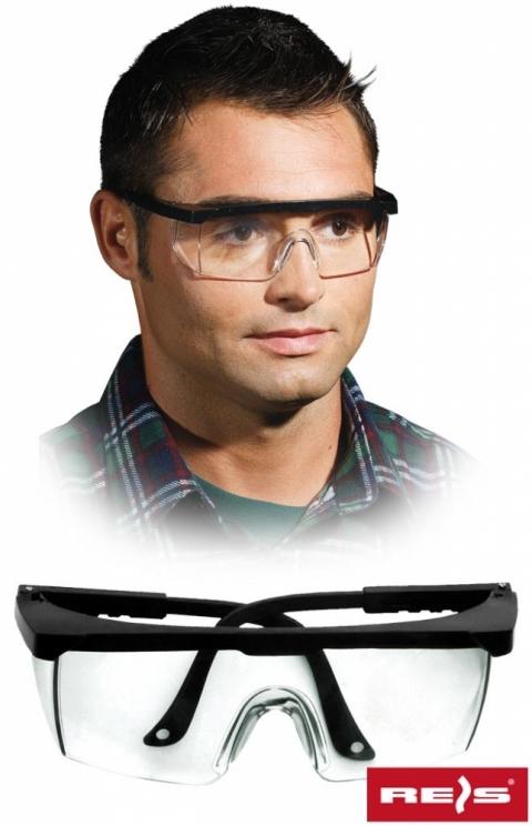 Okulary przeciwodpryskowe GOG-FRAMEB bezbarwne