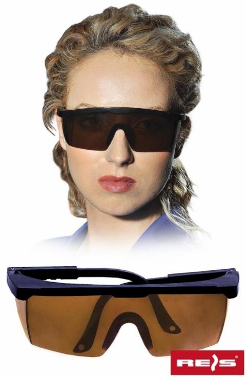 Okulary przeciwodpryskowe GOG-FRAMEB Dark