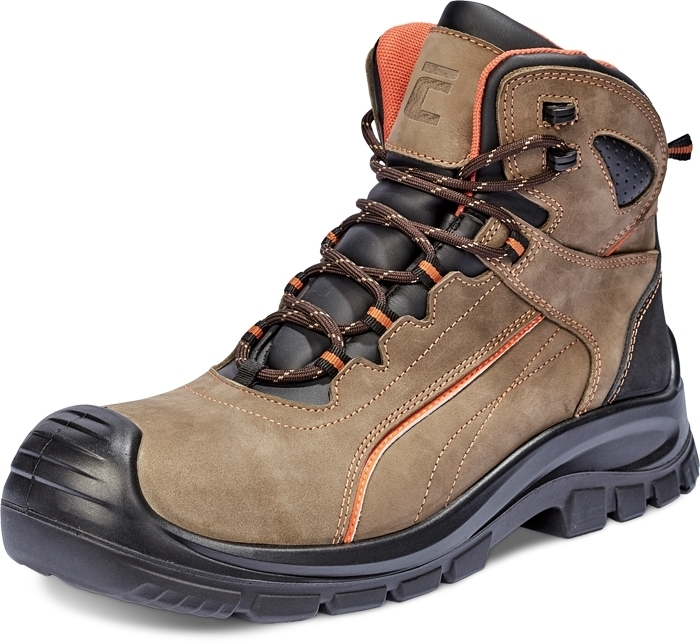 Buty obuwie robocze Trzewiki DERRIL MF S3 SRC - brązowy