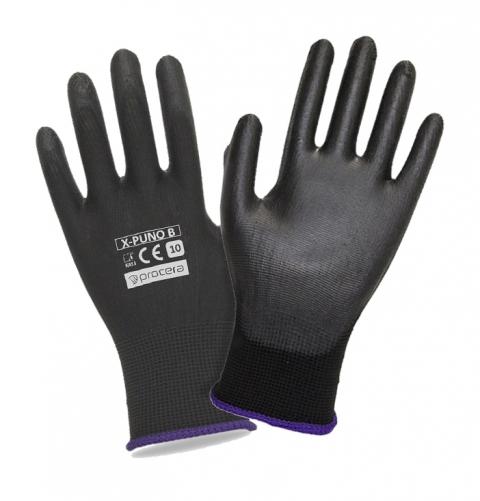 Rękawice powlekane poliuretanowe PU typu RTEPO Czarne